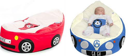 Awesome Novelty Car Beanbag For Babies Supportive Seating For Babies Gamerscity Chair Design For Home Gamerscityorg